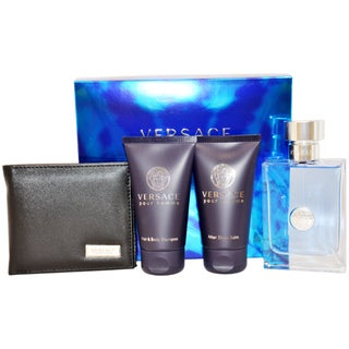 Versace Pour Homme Men's 4-piece Fragrance Gift Set
