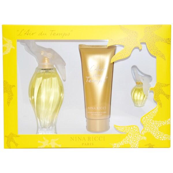 Nina Ricci L'Air du Temps Women's 3-piece Fragrance Gift Set