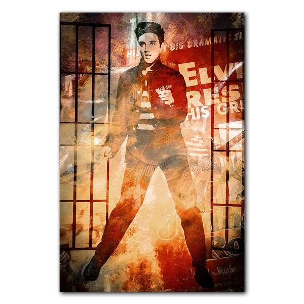 Alexis Bueno 'Elvis Jailhouse Rock' Acrylic Wall Art