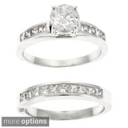 Beverly Hills Charm 14k Gold 1 2/5ct TDW Diamond Composite Bridal Ring Set (H-I, SI)