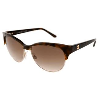 Roberto Cavalli Women's RC652S Melograno Gold/Havana Brown Cat-Eye Sunglasses
