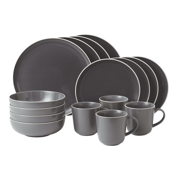 Gordon Ramsey Bread Street 16-piece Slate Dinnerware Set