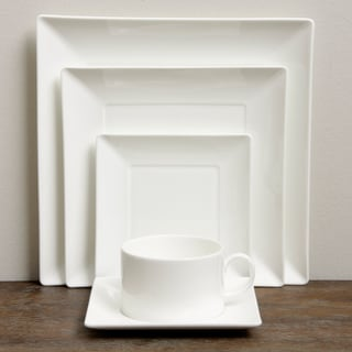 Wedgwood Ashlar White 5-Piece Place Setting