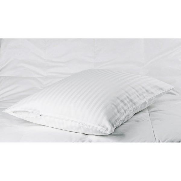 Cotton Sateen Woven Stripe Pillow Protectors (Set of 2)