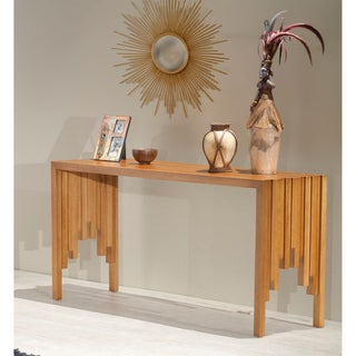 Brazilian Cherry Wood Rustic Console Table