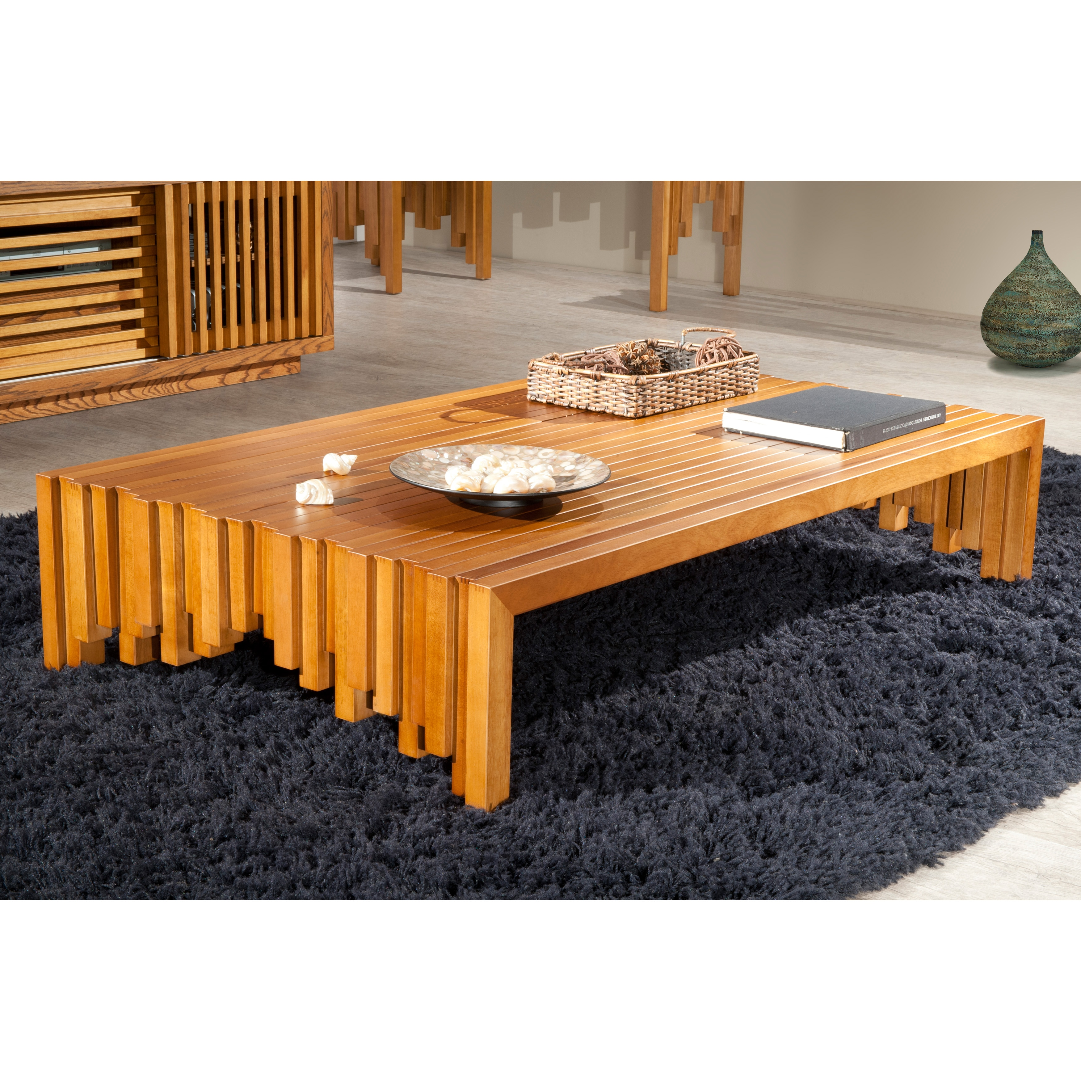 Brazilian Cherry Wood Rustic Coffee Table