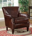 Paxton Leather Nailhead Accent Chair