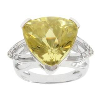 Michael Valitutti 14k White Gold Oro Verde and Diamond Ring