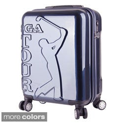 PGA TOUR 20-inch Brushed Carry On Hardside Spinner Upright