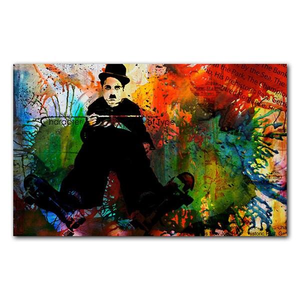 Alexis Bueno 'Chaplin' Acrylic Art