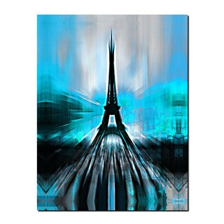 Ready2HangArt 'Paris in Blue Abstract' Gallery-wrapped Canvas Wall Art