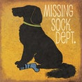 Jo Moulton 'Missing Sock Dept.' Paper Print (Unframed)