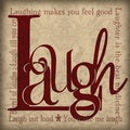 Jo Moulton 'Laugh' Paper Print (Unframed)