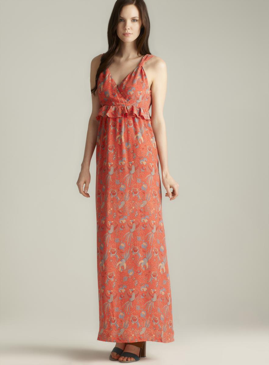 French Connection Phoenix Printed Silk maxi Dress