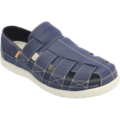 Men's Crocs Santa Cruz Fisherman Sandal Navy/Stucco