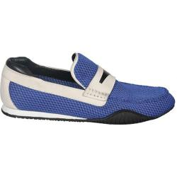 Men's Donald J Pliner Dulse-PC03 Indigo Padded Mesh/White Nubuck