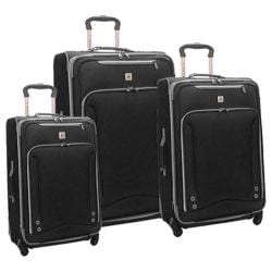 American Airline Skyhawk 3 Piece Luggage Set Black