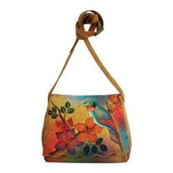 Women's ANNA by Anuschka Scallop Flap bag Bird on Branch