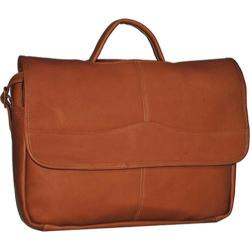 David King Leather 172 Porthole Briefcase Tan