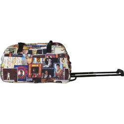 Elvis Presley Signature Product Elvis Collage Rolling Duffle Black