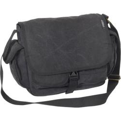 Everest Small Canvas Messenger Black