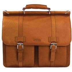 Kenneth Cole Reaction Colombian 5.5in Double Gusset Dowel Rod Portfolio Tan