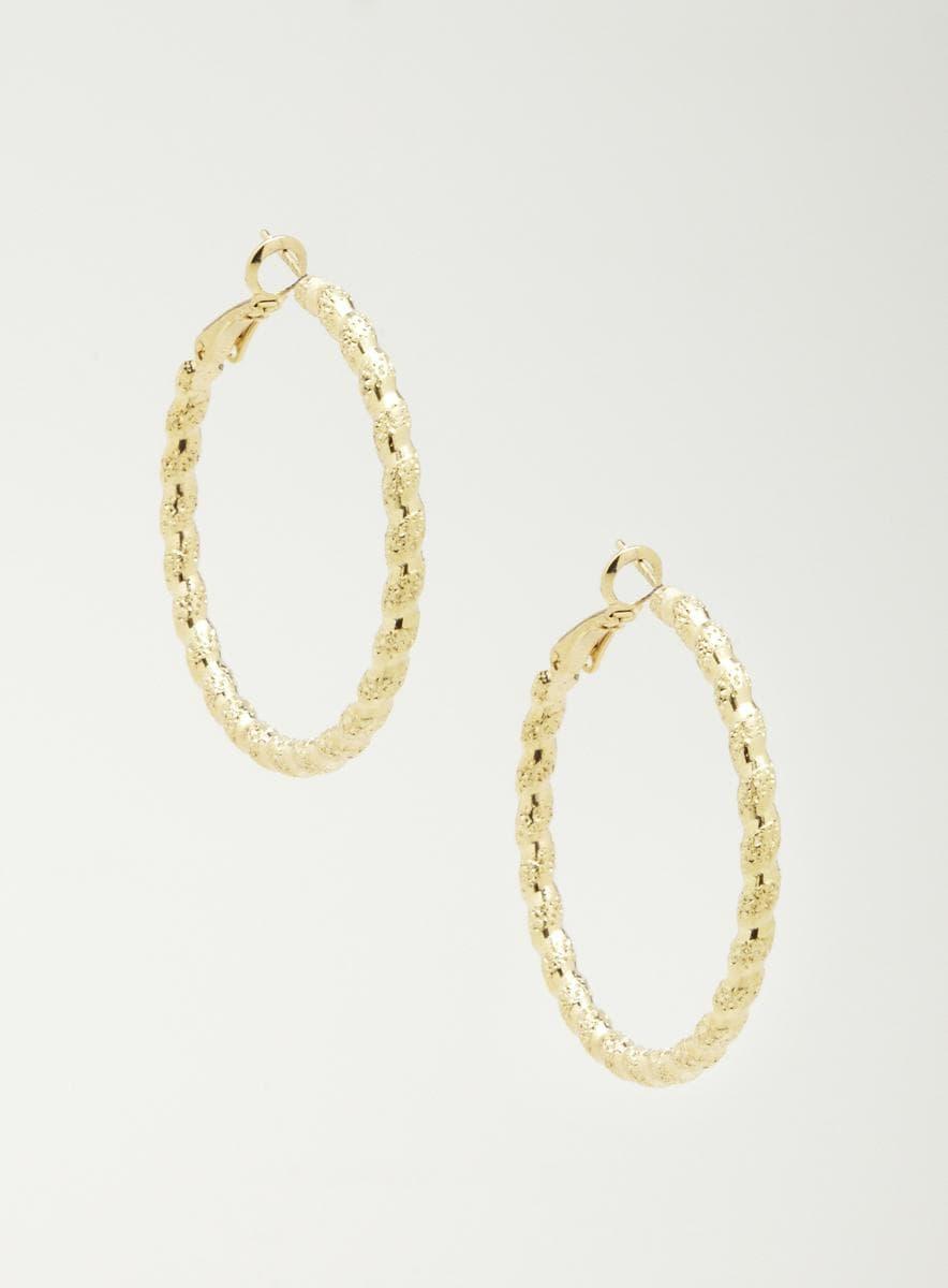 Andante Gold Rope Hoop Earrings