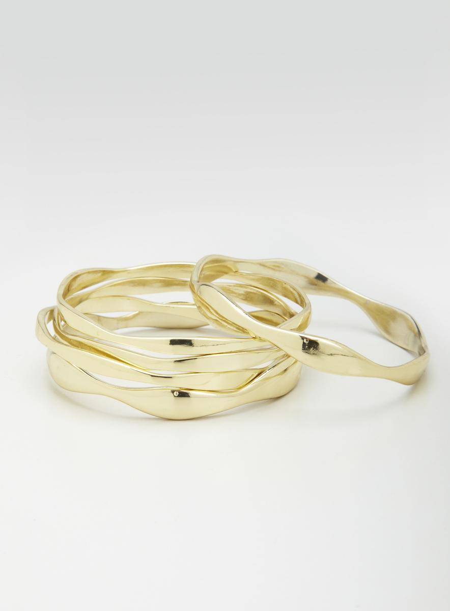 Lydell Metal Multi Bangle Set