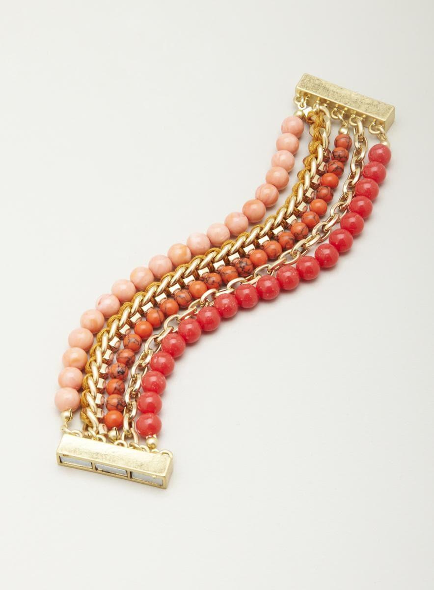 Lydell Multi Row Beaded Magnet Bracelet