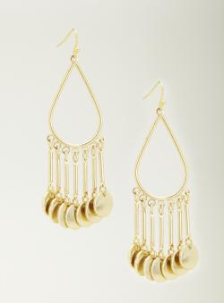 Lydell Metal Disc Drop Earrings
