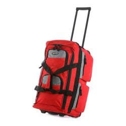 Olympia 26in 8 Pocket Rolling Duffel Red