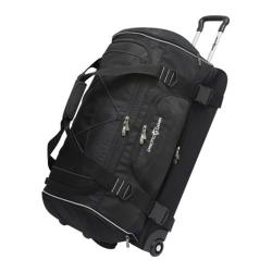 Pacific Gear 30in Drop-bottom Nylon Rolling Duffel Bag Black