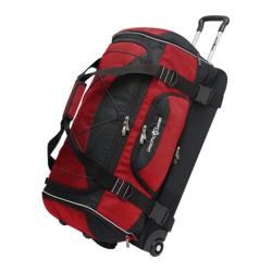 Pacific Gear 30in Drop-bottom Nylon Rolling Duffel Bag Red