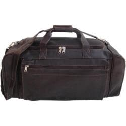 Piel Leather Large Duffel Bag 7708 Chocolate Leather