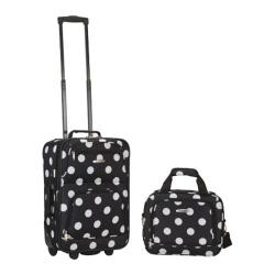 Rockland 2 Piece Luggage Set F102 Black Dot