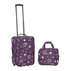 Rockland 2 Piece Luggage Set F102 Purple Pearl