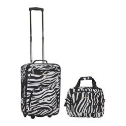 Rockland 2 Piece Luggage Set F102 Zebra
