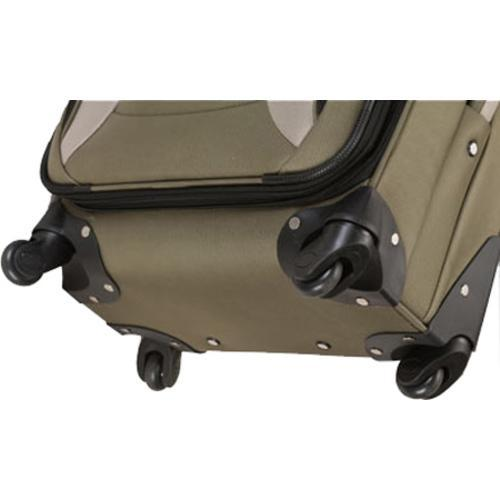 Rockland 4 Piece Impact Spinner Luggage Set F155 Olive