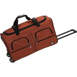 Rockland 30in Rolling Duffle Red