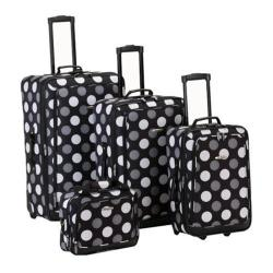 Rockland 4 Piece Luggage Set F106 Black Dot
