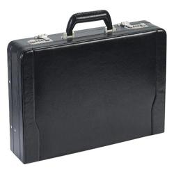 Solo Leather Laptop Attache 488 Black