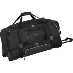 TPRC 30in 2-Section Drop Bottom Rolling Duffel Black