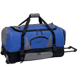 TPRC 36in 2-Section Drop Bottom Rolling Duffel Navy/Black