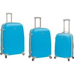 TPRC Barnet 3 Piece Hard-Side Expandable Luggage Set Neon Blue