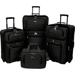 Traveler's Choice 4 Piece Shenandoah Travel Collection Black