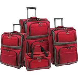 Traveler's Choice Lightweight 4-Piece Luggage Set Red