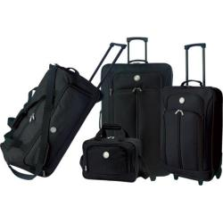 Travelers Club Deluxe 4 Piece Travel Set Black
