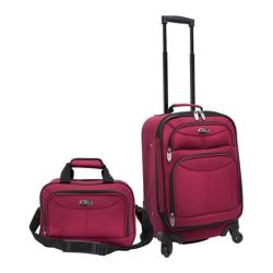 US Traveler 2-Piece Carry-on Luggage Set Maroon