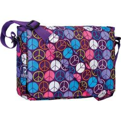 Wildkin Kickstart Messenger Bag Peace Signs Purple
