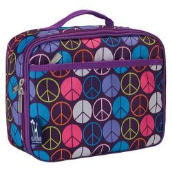 Wildkin Lunch Box Peace Signs Purple